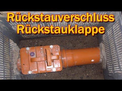 """""""RÜCKSTAUVERSCHLUSS / RÜCKSTAUKLAPPE"""" -Gegen KACKA im Keller !!!"""