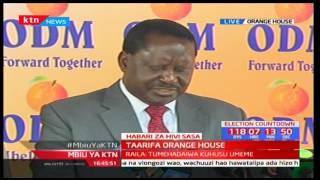 ODM leader Raila Odinga gives press statement on Jubilee delivery portal