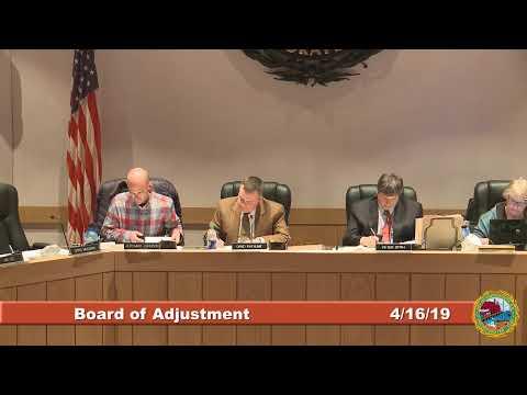 Board of Adjustment 4.16.2019