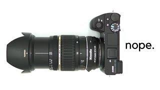 Tamron 17-50mm f/2.8 + Sony A6500