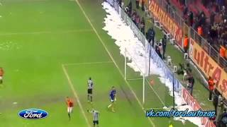 11 12 2013 Galatasaray Vs Juventus 1 0 Goal Sneijder With Drogba Pass Vk Com Ford Autozap