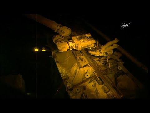 Spacewalking Repair Job for ISS Robotic Arm