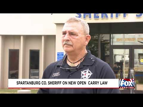 Spartanburg Sheriff speaks on new open carry law
