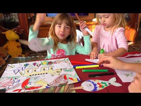 Как РИСОВАТЬ/ УРОК рисования для ДЕТЕЙ от 3 лет/ РАСКРАСКА для детей