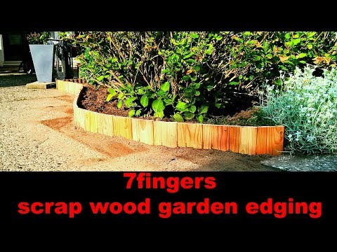scrap wood garden edging | Beetumrandung aus Holzresten
