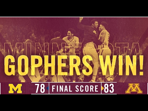 Highlights: Gopher Men's Basketball Defeats Michigan 83-78 in Overtime