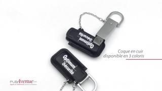 Clé USB personnalisée haut de gamme pochette cuir et métal