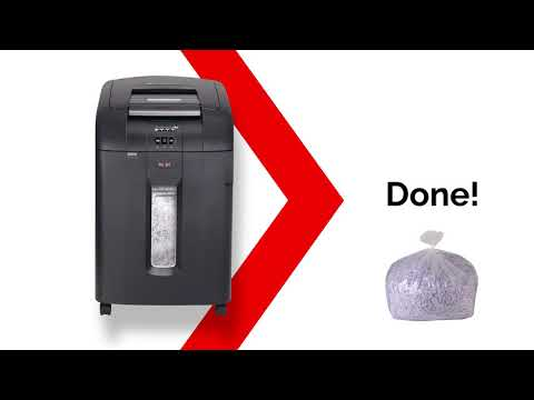 Video of the Rexel Auto+ SmarTech 600X Shredder