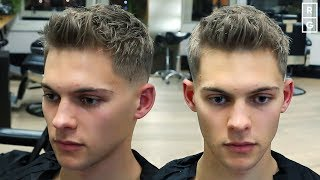 Short Textured Quiff Easy To Style Mens Haircut