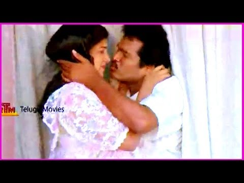 RajendraPrasad & Rambha  Lip Kiss Scene - In Aa Okkati Adakku Movie