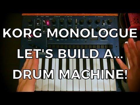 Korg Monologue - Let's Build... A Drum Machine!