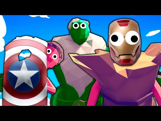 Made the AVENGERS and they were the WORST FACTION EVER in TOTALLY ACCURATE BATTLE SIMULATOR? (TABS)