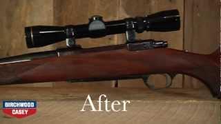 How To Refinish A Gun Stock With Birchwood Caseys TruOil Gun Stock Finish Kit