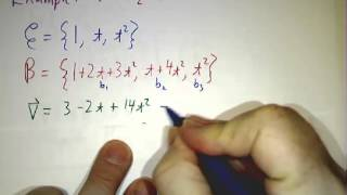 Change-of-basis matrices II: Formula and Example