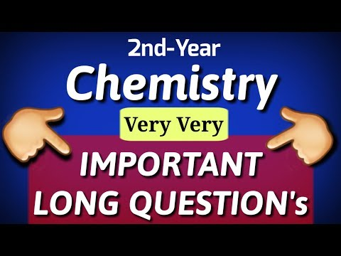 12th class chemistry guess paper 2019 Important Short&Long Question