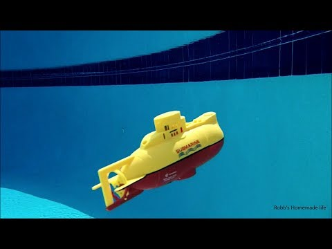 Robb Reviews $29 Toy RC Submarine underwater test- better than I thought.