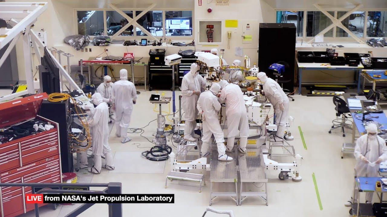 Трансляция: посмотрите на сборку аппарата «Марс-2020» прямо сейчас