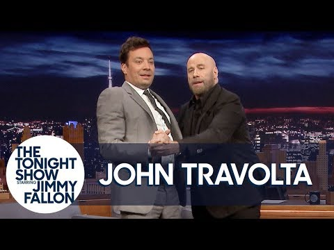 "John Travolta Teaches Jimmy to Tango Like Pitbull's ""3 to Tango"" Music Video"