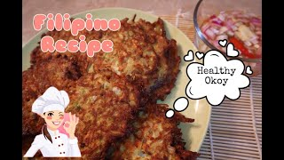 How To Make Veggie Okoy| Vegetable Fritters| Filipino Recipes Atbp With Telets & G💕