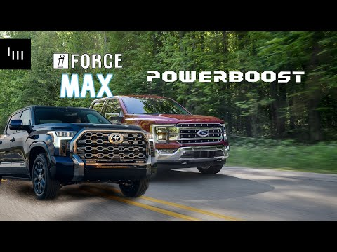 The Battle Of The Hybrid Trucks - Toyota Tundra iForce Max vs Ford F150 Powerboost