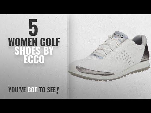 Top 5 Ecco Women Golf Shoes [2018]: ECCO Women's Biom Hybrid 2 Golf Shoe,White/Silver,40 EU/9-9.5 M