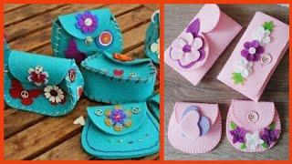 Beautiful Felt Fabric Bag And Other Ideas