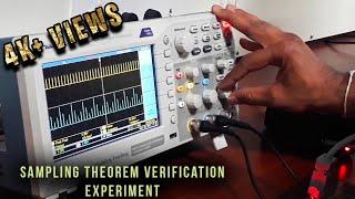 Sampling theorem verification - Analog communication lab - tutorial by Mr.Shashi