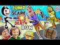 HELLO NEIGHBOR SPONGEBOB DEATHRUN vs BENDY  THE INK MACHINE Krusty Krab FNAF Jump Scares 4 FGTEEV