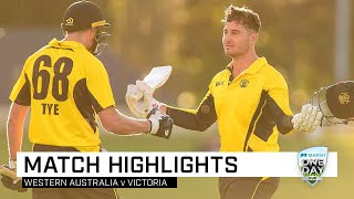 Highlights: Western Australia v Victoria, Marsh One-Day Cup