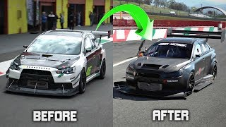 Mitsubishi Lancer EVO X TIME ATTACK Build Before And After + ONBOARD Comparison!