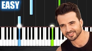 Luis Fonsi - Despacito ft. Daddy Yankee - EASY Piano Tutorial by PlutaX