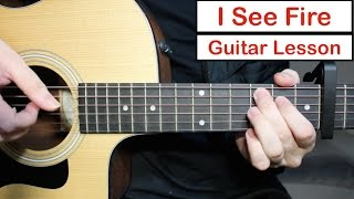 I See Fire - Ed Sheeran | Guitar Lesson (Tutorial) How to play the Fingerstyle Intro