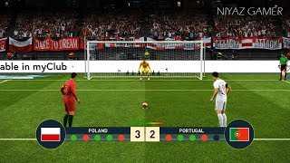 POLAND vs PORTUGAL   Penalty Shootout   PES 2019 Gameplay PC