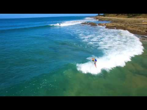 Fun wave surfing and drone footage of Lorne Point