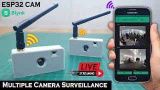 ESP32 CAM Blynk Multiple Camera Surveillance