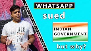 WhatsApp New Policy, Sue Government!