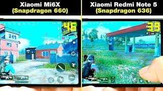 Xiaomi Redmi Note 5 (Snapdragon 636) vs Xiaomi Mi6X (Snapdragon 660) В ИГРАХ! FPS + НАГРЕВ
