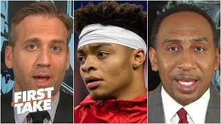 Stephen A. and Max react to Justin Fields' petition for an Ohio State football season | First Take