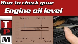 How to check your car's engine oil level