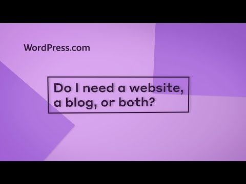 do i need a website a blog or a website with a blog support