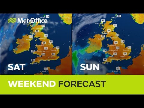 Weekend weather - Heatwave persists, risk of thunderstorms, fresher in the east - 28/06/18