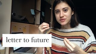 how to write a letter to your future self, explained in 3 minutes // eastaura