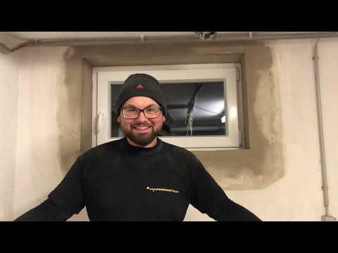 Kellerfenster einbauen und Leibungen verputzen #mylifeisabaustelle
