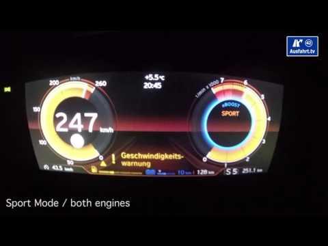 2015 BMW i8 0-100 kmh kph 0-60 mph Tachovideo Beschleunigung Acceleration