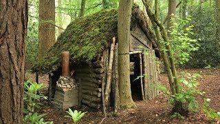 Cabin Log Palsu Di Hutan - Moss Roof (Overnight Camp)