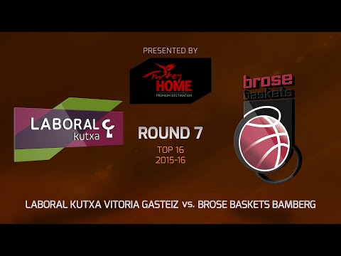 Highlights: Top 16, Round 7, Laboral Kutxa Vitoria Gasteiz 90-64 Brose Baskets Bamberg