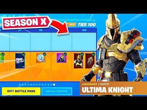 Season 10 Battle Pass Tier 100 Skin Unlocked Fortnite