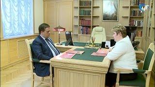 Андрей Никитин провел рабочую встречу с главой Поддорского района Еленой Паниной