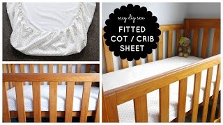 {Step-by-Step Sewing} DIY Baby Cot / Crib Fitted Sheet Tutorial
