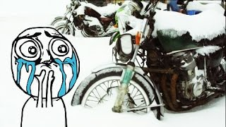 how to winterize a motorcycle for safe storage over frozen winter